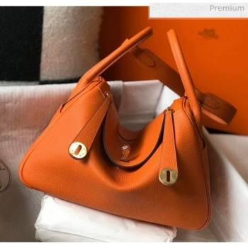 Hermes Lindy 30cm Bag In Togo Calfskin Leather Orange 2020 (FL-20052908)