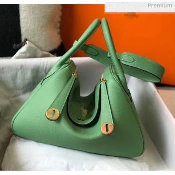 Hermes Lindy 30cm Bag In Togo Calfskin Leather Green 2020 (FL-20052909)