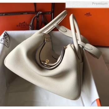 Hermes Lindy 30cm Bag In Togo Calfskin Leather Off-white 2020 (FL-20052910)
