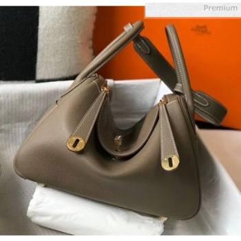 Hermes Lindy 30cm Bag In Togo Calfskin Leather Etoupe 2020 (FL-20052912)