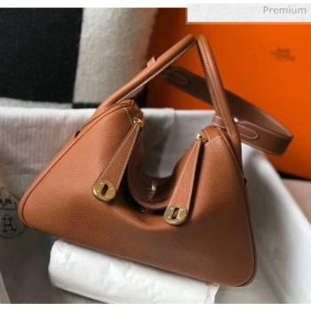 Hermes Lindy 30cm Bag In Togo Calfskin Leather Brown 2020 (FL-20052913)