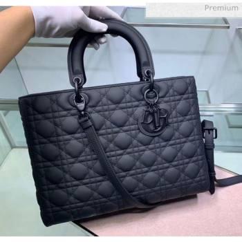 Dior Cannage Calfskin Large Lady Dior Bag Black 2020 (XXG-20052730)