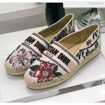 Dior Granville Espadrilles in Flower Embroidered Cotton 2020 (JC-20060416)