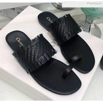 Dior Wave Sandal in Braided Lambskin Black 2020 (JC-20060417)