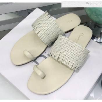 Dior Wave Sandal in Braided Lambskin White 2020 (JC-20060418)