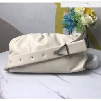 Bottega Veneta Nappa Leather The Body Pouch White 2020 (MS-20060441)