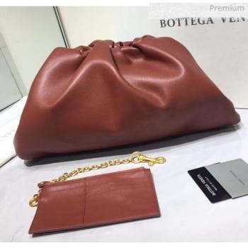 Bottega Veneta The Pouch Soft Voluminous Clutch Bag Rust 2020 (MS-20060512)