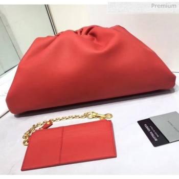 Bottega Veneta The Pouch Soft Voluminous Clutch Bag Red 2020 (MS-20060514)