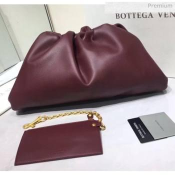 Bottega Veneta The Pouch Soft Voluminous Clutch Bag Burgundy 2020 (MS-20060516)