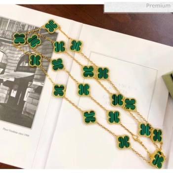 Van Cleef Arpels Clovers Long Necklace Green 28 2020 (MLD-20061128)