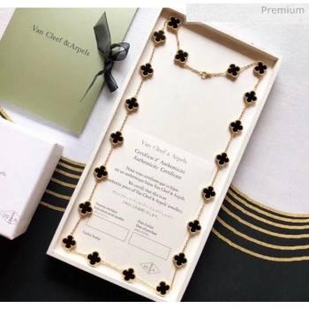 Van Cleef Arpels Clovers Long Necklace Black 29 2020 (MLD-20061129)