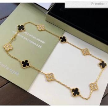 Van Cleef Arpels 10 Clovers Long Necklace Black 32 2020 (MLD-20061132)
