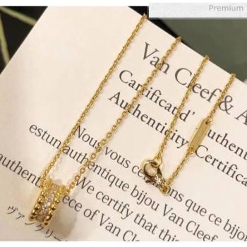 Van Cleef Arpels Crystal Necklace 38 Gold 2020 (MLD-20061138)