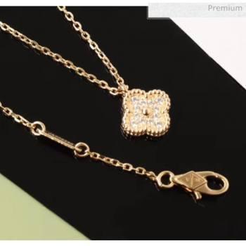 Van Cleef Arpels Crystal Necklace 206125 Pink Gold 2020 (GDS-20061206)