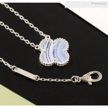 Van Cleef Arpels Clover Necklace 206128 Grey Blue 2020 (GDS-20061208)