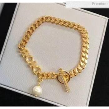 Dior Pearl Chain Bracelet 2061237 2020 (ASM-20061237)