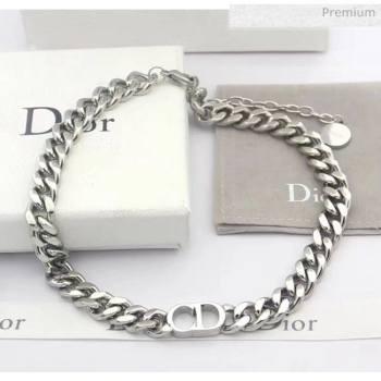 Dior CD Chian Necklace 2061230 Silver 2020 (CS-20061230)