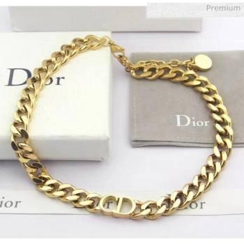 Dior CD Chian Short Necklace 2061232 Gold 2020 (CS-20061232)