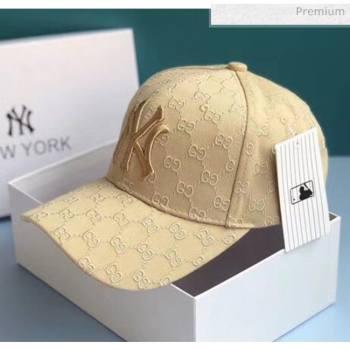 Gucci NY GG Baseball Hat 2061240 Beige 2020 (A-20061240)
