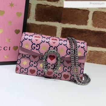 Gucci Dionysus GG Love Leather Super Mini Bag 476432 Pink 2020 (DHL-20062011)