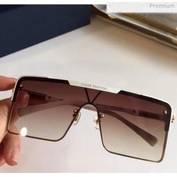 Louis Vuitton Square Sunglasses Z9808 Brown 2020 (A-20061309)