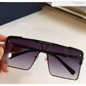 Louis Vuitton Square Sunglasses Z9808 Black 2020 (A-20061310)