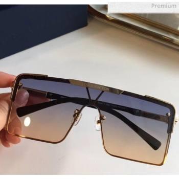 Louis Vuitton Square Sunglasses Z9808 Blue/Lgth Pink 2020 (A-20061312)