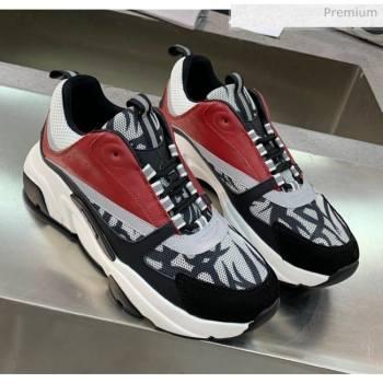 Dior B22 Sneaker in Calfskin And Technical Mesh Green/Burgundy 2020 (MD-20061321)