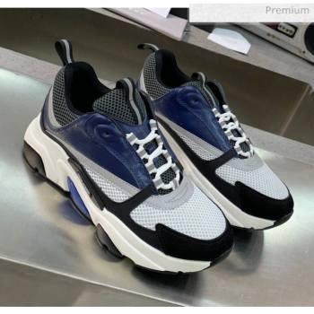 Dior B22 Sneaker in Calfskin And Technical Mesh Black/Blue/Dark Grey 2020 (MD-20061324)