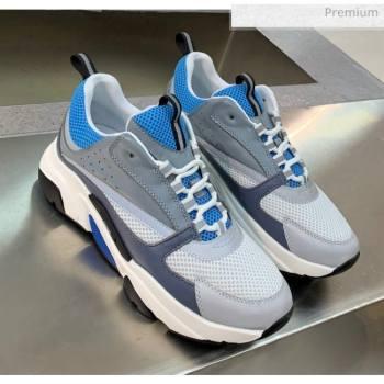 Dior B22 Sneaker in Calfskin And Technical Mesh Dark Gery/Blue/Grey 2020 (MD-20061331)