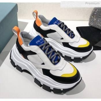 Prada Block Sneakers White/Blue/Yellow 2020 (MD-20061506)