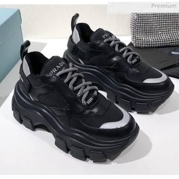 Prada Block Sneakers Black/Silver 2020 (MD-020061507)