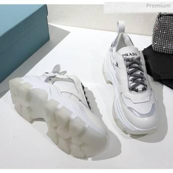 Prada Block Sneakers White/Silver 2020 (MD-20061511)