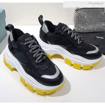 Prada Block Sneakers Black/Silver/Yellow 2020 (MD-20061513)