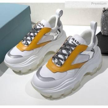 Prada Block Sneakers Yellow/Silver/White 2020 (MD-20061515)