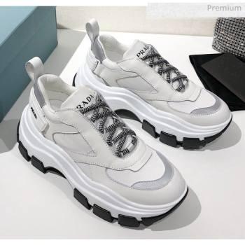 Prada Block Sneakers Silver/White/Black 2020 (MD-20061516)