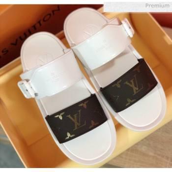 Louis Vuitton SUNBATH Flat Mules Sandals 1A66XD White 2020 (MD-20061638)