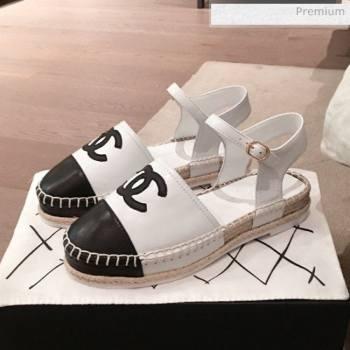 Chanel Lambskin Flat Espadrilles G36184 White 2020 (KL-20062813)