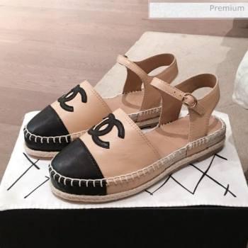 Chanel Lambskin Flat Espadrilles G36184 Beige 2020 (KL-20062815)