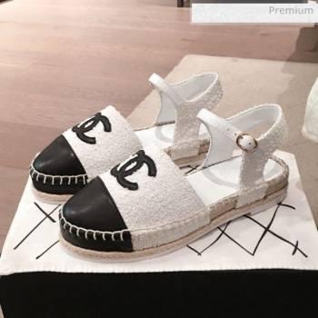 Chanel Tweed Flat Espadrilles G36184 White 2020 (KL-20062816)