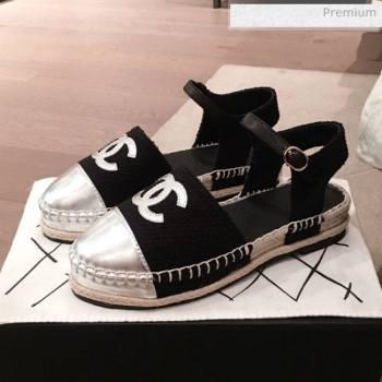 Chanel Tweed Flat Espadrilles G36184 Black 2020 (KL-20062817)