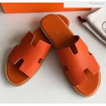 Hermes Izmir Sandal For Men in Togo Calfskin Orange 2020 (Handmade) (MD-20062271)