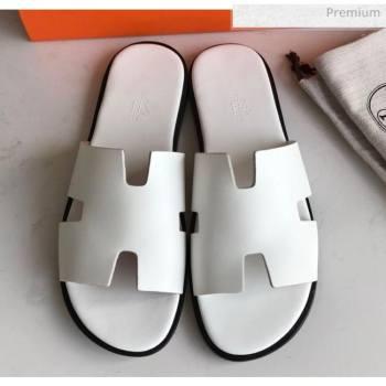 Hermes Izmir Sandal For Men in White Calfskin 2020 (Handmade) (MD-20062278)