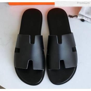 Hermes Izmir Sandal For Men in Calfskin All Black 2020 (Handmade) (MD-20062279)