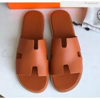Hermes Izmir Sandal For Men in Calfskin Orange 2020 (Handmade) (MD-20062280)