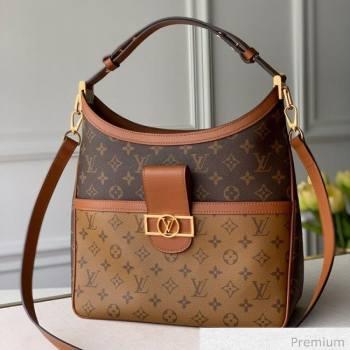 Louis Vuitton Hobo Dauphine MM Shoulder Bag M45195 Monogram Canvas/Brown 2020 (KI-20063020)