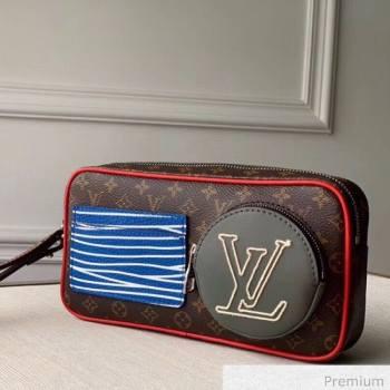 Louis Vuitton Mens LV Stripes Clutch M68687 Monogram Canvas 2020 (KI-20063040)