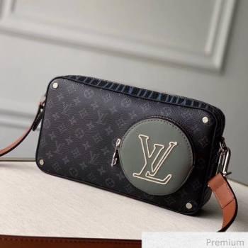 Louis Vuitton Mens LV Stripes Crossbody Bag M69688 Monogram Eclipse Canvas 2020 (KI-20063041)