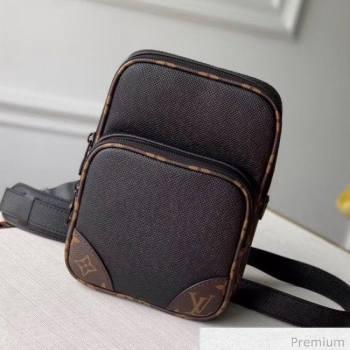 Louis Vuitton Mens Saffiano Calfskin Camera Crossbody Bag M68686 Black 2020 (KI-20070105)