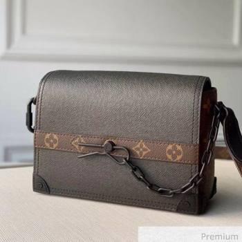 Louis Vuitton Mens Saffiano Calfskin Box Crossbody Bag M30717 Black 2020 (KI-20070103)